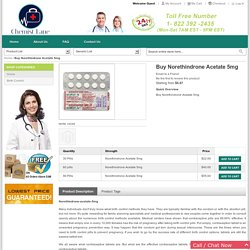 Norethindrone Acetate Pill Online