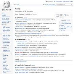 Norm - Wikipedia