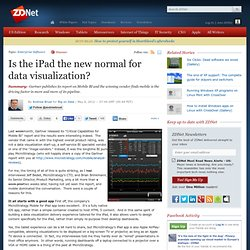 Is the iPad the new normal for data visualization?