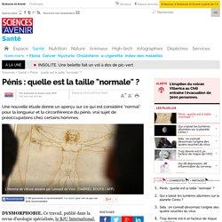 """Pénis : quelle est la taille """"normale"""" ? - Sciencesetavenir.fr"""
