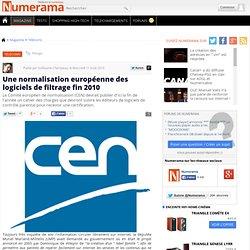 Une normalisation européenne des logiciels de filtrage fin 2010 - Numerama