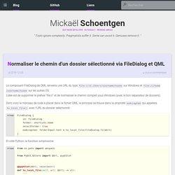 Normaliser le chemin d'un dossier sélectionné via FileDialog et QML - Tiger-222