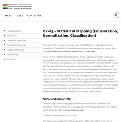 CV-05 - Statistical Mapping (Enumeration, Normalization, Classification)