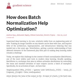 How does Batch Normalization Help Optimization? – gradient science