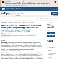 """Evidence against the """"normalization"""" prediction of the early brain overgrowth hypothesis of autism"""
