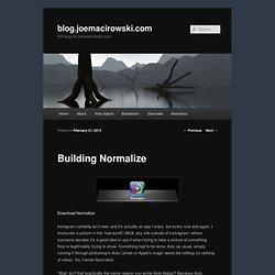 blog.joemacirowski.com