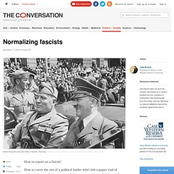 Normalizing fascists