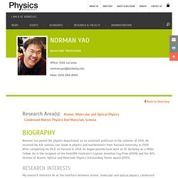 Norman Yao | UC Berkeley Physics