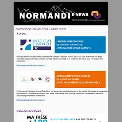 NormandiE-NEWS n°13 / Mars 2020