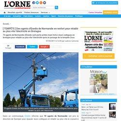 [ TEMPÊTE ] Des agents d'Enedis de Normandie en renfort pour rétablir au plus vite l'électricité en Bretagne