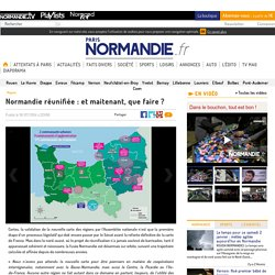 Les territoires administratifs de la Normandie