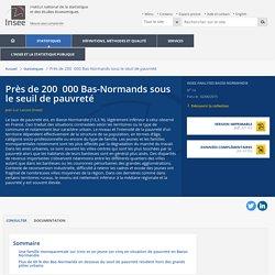 Près de 200 000 Bas-Normands sous le seuil de pauvreté - Insee Analyses Basse-Normandie - 14