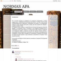 NORMAS APA: Introducción