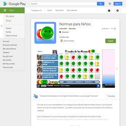 Normas para Niños - Google Play-ko aplikazioak