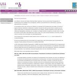 Trabajo de investigación -5- Normas de presentación (ULL)