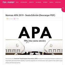 Normas APA 2019 - Sexta edición (Descargar PDF)