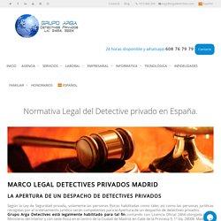 Normativa Legal Detective Privado ▷ Normas de actuación del Detective.