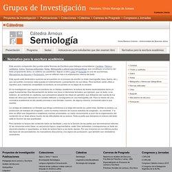 Normativa para la escritura académica - Cátedra Arnoux - Semiología - CBC
