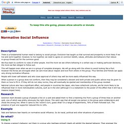 Normative Social Influence