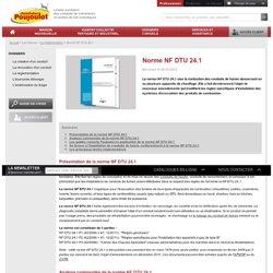 Norme NF DTU 24.1 - Travaux de fumisterie