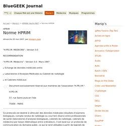 Norme HPRIM - BlueGEEK Journal