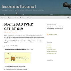 Norme PAD TVHD CST-RT-019