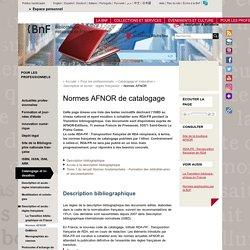 Normes AFNOR de catalogage