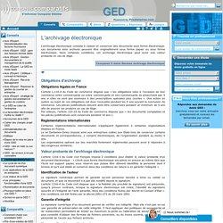Normes archivage électronique
