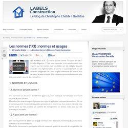 Les normes (1/3) : normes et usages