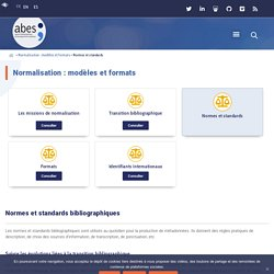 Normes et standards - abes.fr