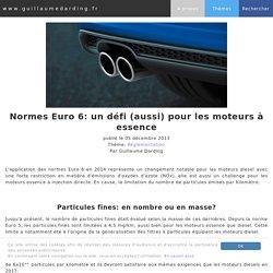 Normes Euro 6: un défi (aussi) pour les moteurs à essence
