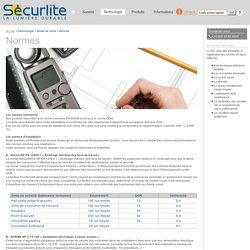 Normes - SECURLITE