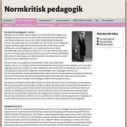 Normkritik skolan - www.normkritiskpedagogik.se