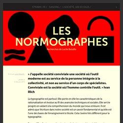 Les Normographes - Recherches de Lucile Bataille