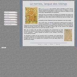 Le norrois, l'ancien islandais, langue des vikings, langue médiévale, sagas, eddas