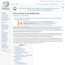 Norse activity in the British Isles