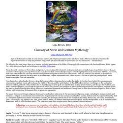 Norse and German Mythology
