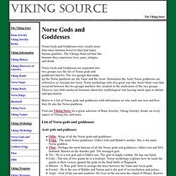 Dieux nordiques et les déesses