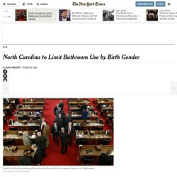 North Carolina to Limit Bathroom Use by Birth Gender
