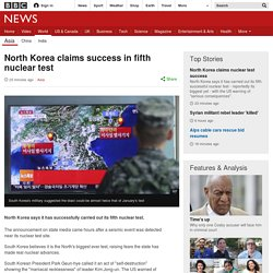 North Korea conducts 'fifth and biggest nuclear test'