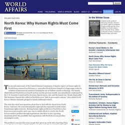 North Korea: Why Human Rights Must Come First