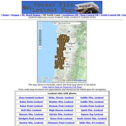 North Oregon Coast Forest Fire Lookout Tower Sites