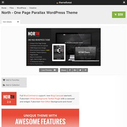 North - One Page Parallax WordPress Theme - WordPress