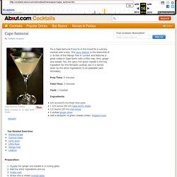 Cape North Vodka Samurai Cocktail Recipe