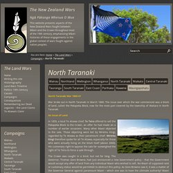 North Taranaki - New Zealand Wars