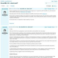 52°North - UncertML Forum - UncertML 3.0 - what next?