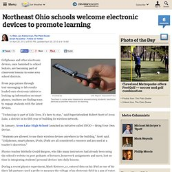 Northeast Ohio schools welcome electronic devices to promote learning