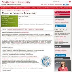 Online Master's Degree Leadership > MS Leadership Degree