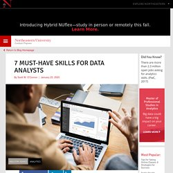 7 Must-Have Data Analyst Skills