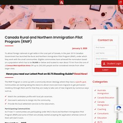 Canada Rural and Northern Immigration Pilot